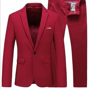 Other - 0283 Mens Slim Fit 2 Piece Single Breasted Jacket